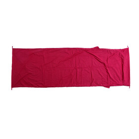 Basic Nature Mixed fabrics inlet Inlet blanket form red
